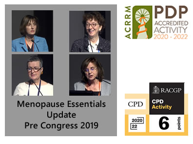 Menopause Essentials Update Pre Congress 2019